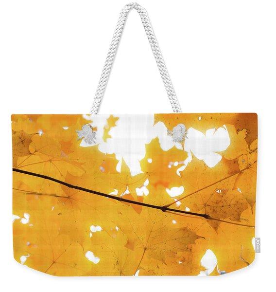 Honey Colored Happiness Weekender Tote Bag