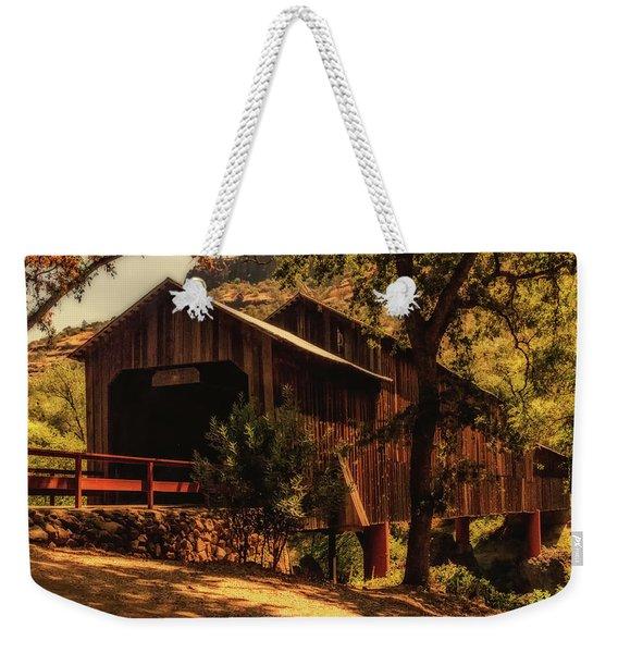 Honey Run Covered Bridge Weekender Tote Bag