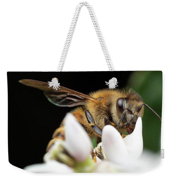 Honeybee Peeking Weekender Tote Bag