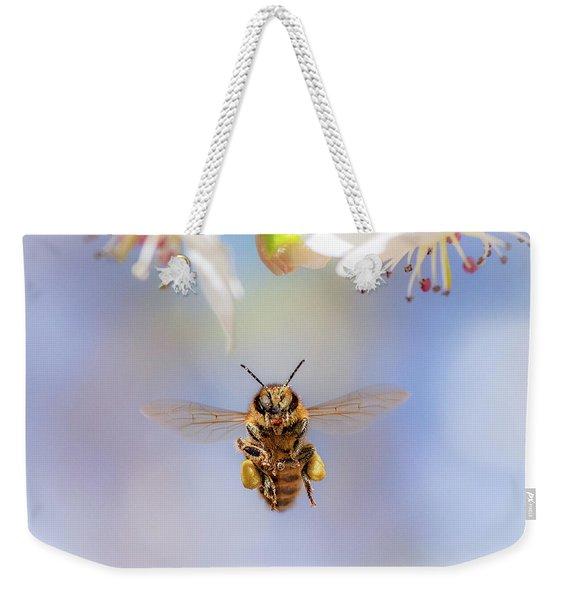 Honeybee Suspended On Air Weekender Tote Bag