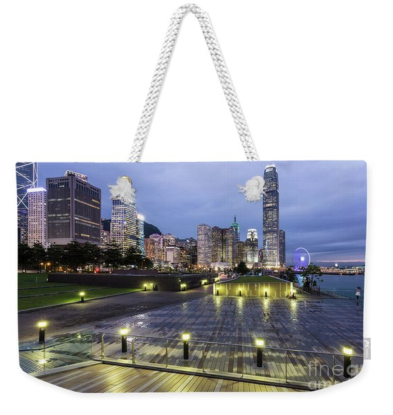 Hong Kong Twilight Weekender Tote Bag