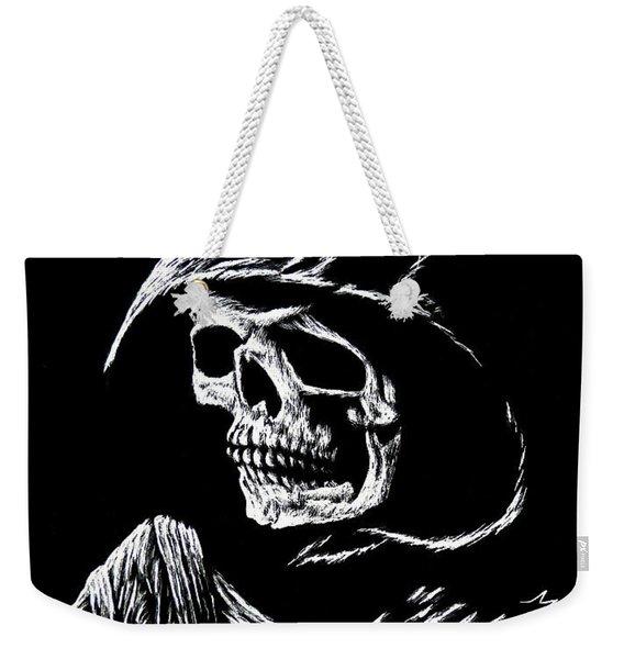 Hooded Skull Weekender Tote Bag