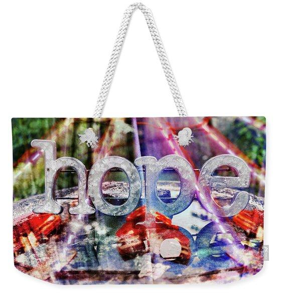 Hopeful Weekender Tote Bag