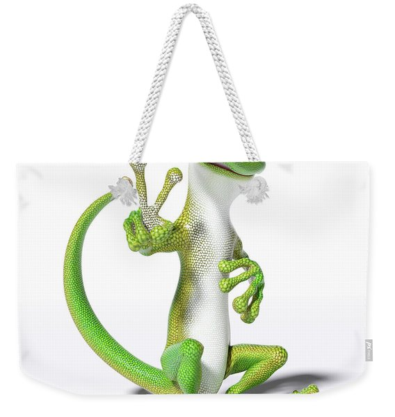 Hoping For Peace Gecko Weekender Tote Bag