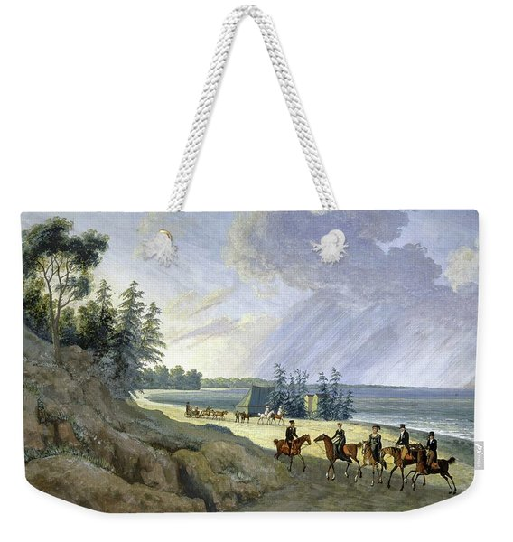 'horseriding Along The Baltic', 1810, Gouache On Paper. Weekender Tote Bag