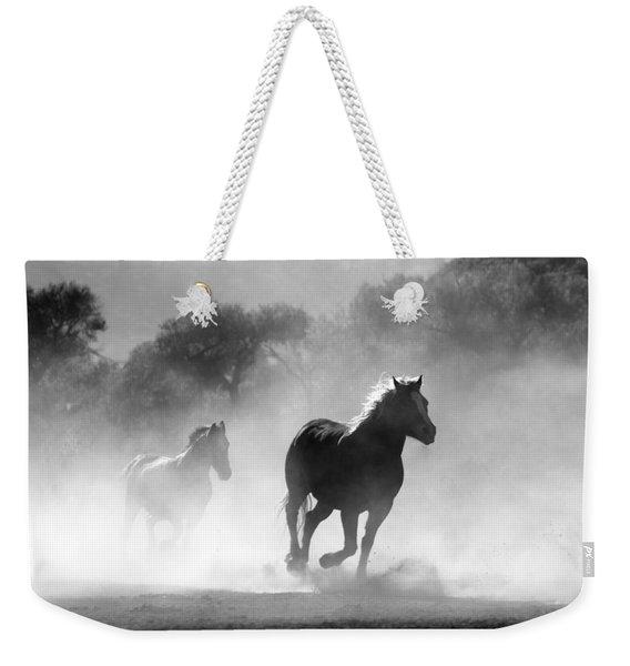 Horses On The Run Weekender Tote Bag