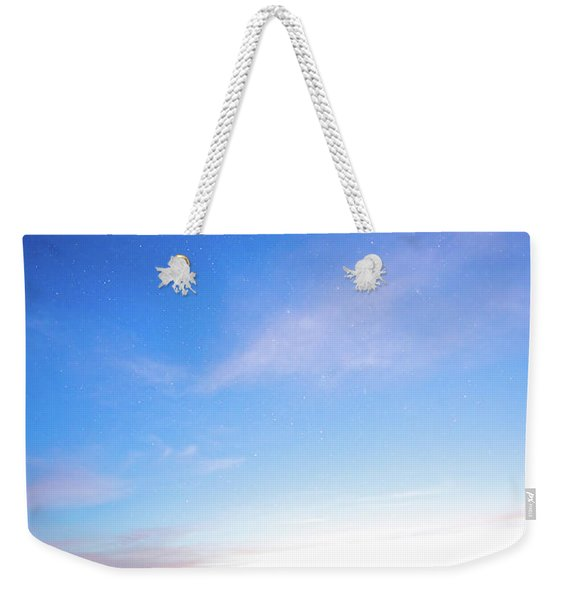 Horses Play In The Surf At Twilight Weekender Tote Bag