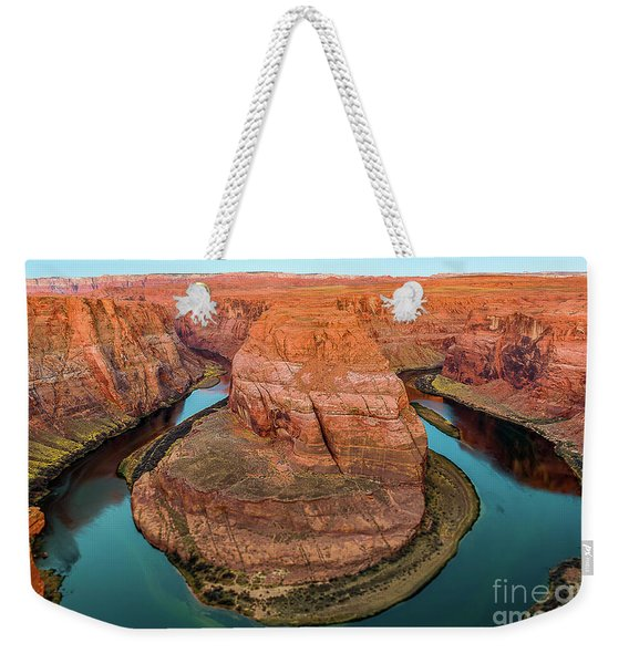 Weekender Tote Bag featuring the photograph Horseshoe Bend by Dheeraj Mutha