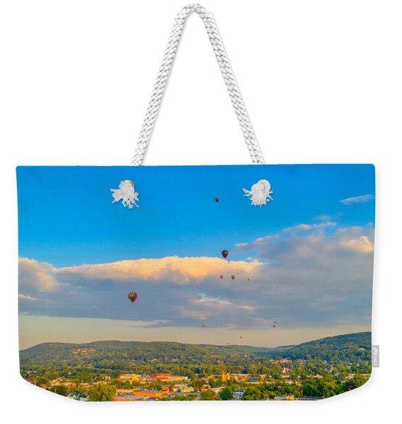 Hot Air Ballon Cluster Weekender Tote Bag