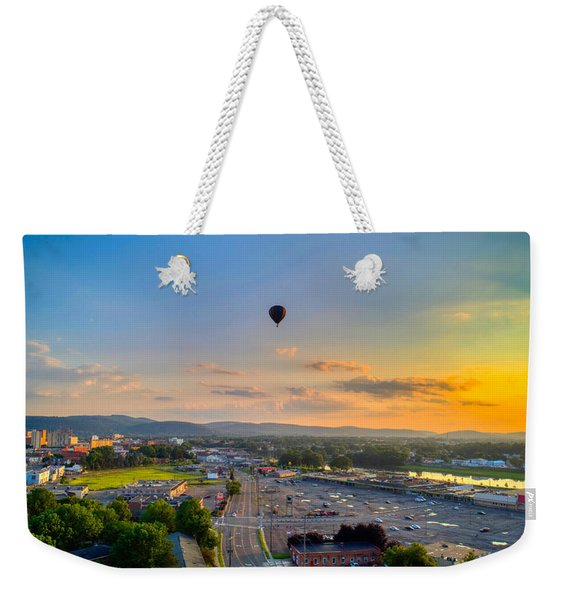 Hot Air Ballon Sunset Weekender Tote Bag