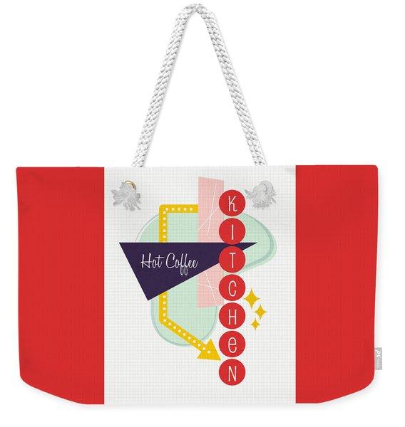 Hot Coffee Kitchen- Art By Linda Woods Weekender Tote Bag