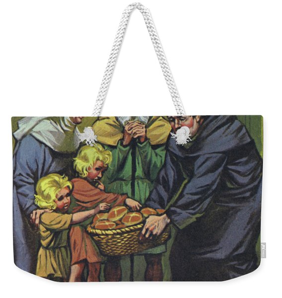 Hot Cross Buns Being Distributed To The Poor At St Albans Abbey On Good Friday 1361 Weekender Tote Bag