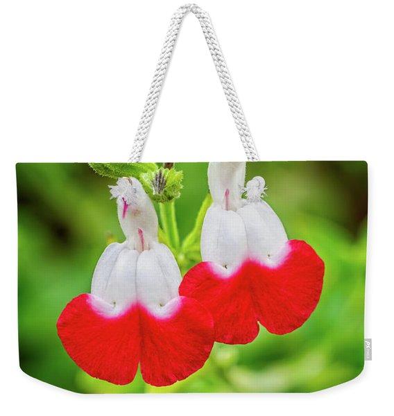 Hot Lips Flower Weekender Tote Bag