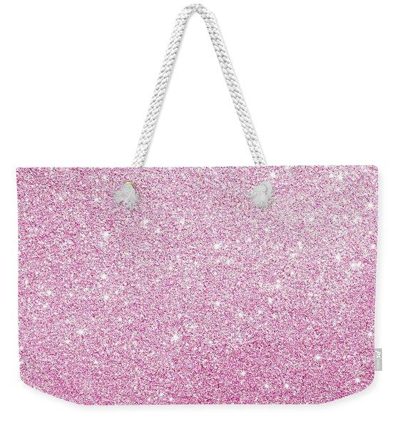 Hot Pink Glitter Weekender Tote Bag