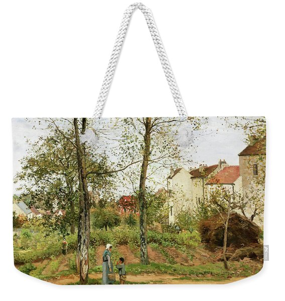 Houses At Bougival, Autumn - Digital Remastered Edition Weekender Tote Bag
