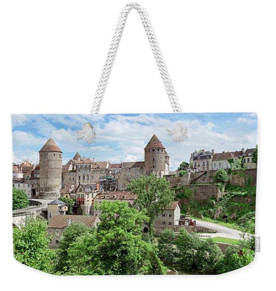Houses In A City, Joly Bridge Weekender Tote Bag