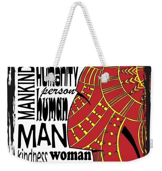 Human Being Weekender Tote Bag