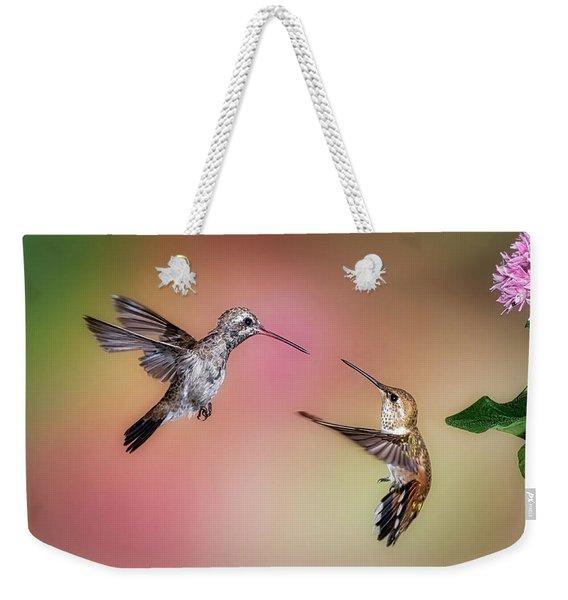 Hummingbird Battle Weekender Tote Bag