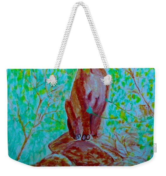 Hungry Mountain Lion Weekender Tote Bag