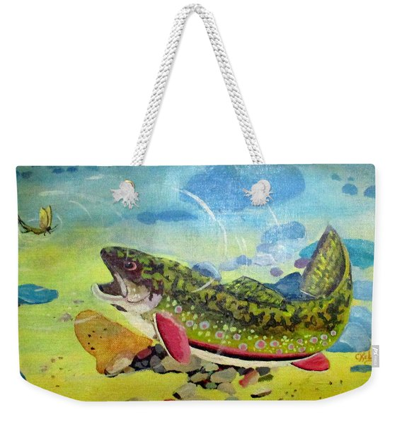 Hungry Trout Weekender Tote Bag