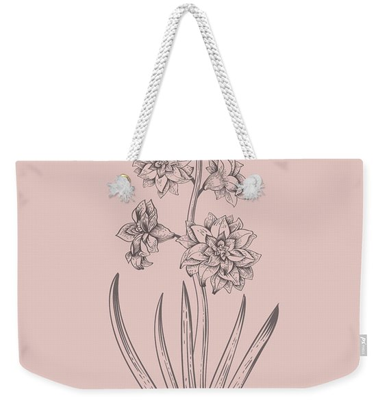 Hyacinth Blush Pink Flower Weekender Tote Bag