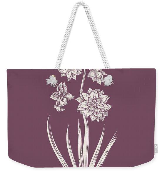 Hyacinth Purple Flower Weekender Tote Bag