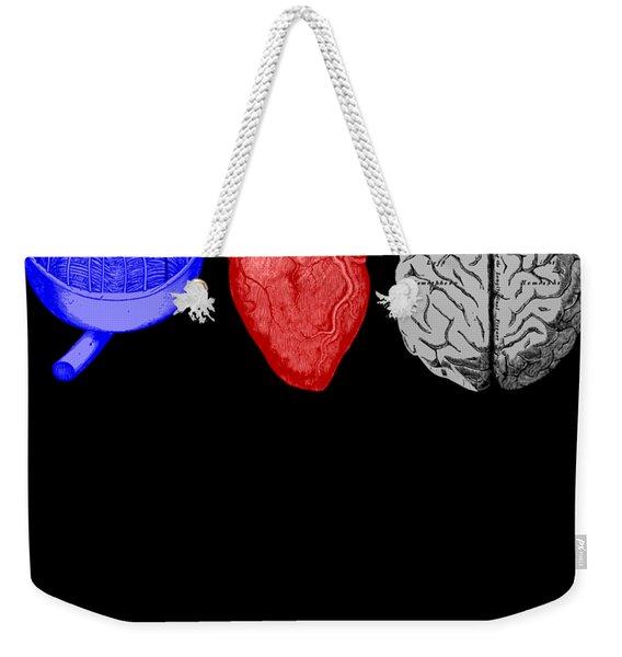I Heart Brains Science Nerd Gift Weekender Tote Bag