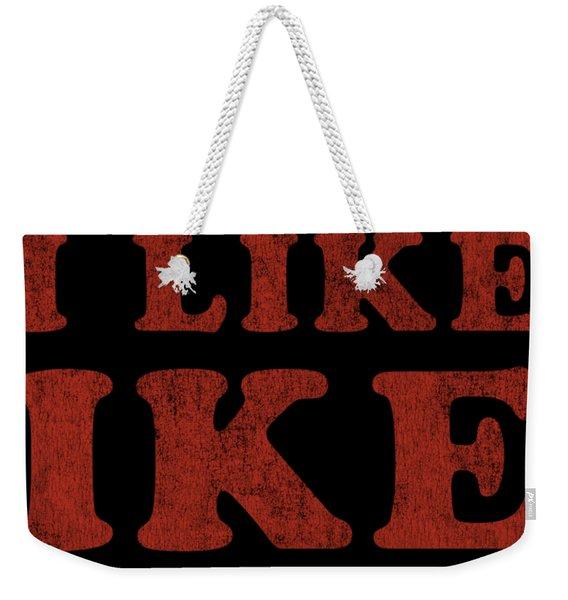 Weekender Tote Bag featuring the digital art I Like Ike by Flippin Sweet Gear