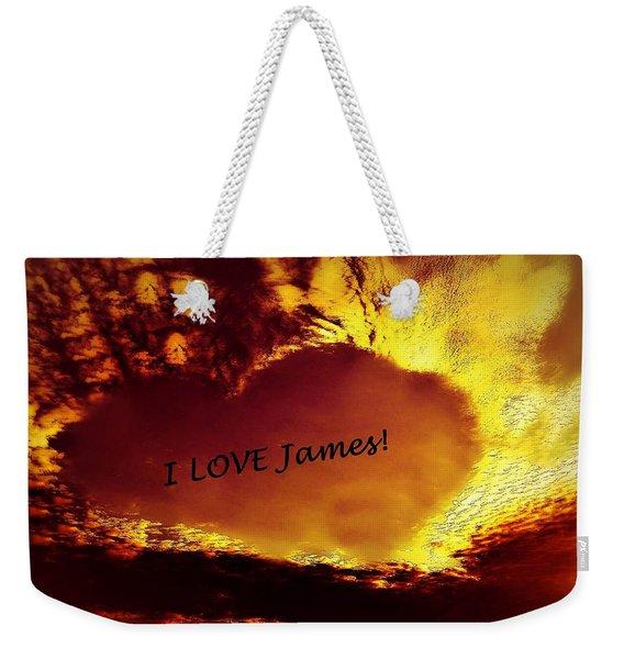 I Love James Heart Weekender Tote Bag