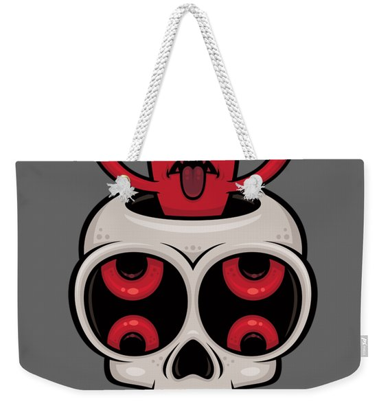 I Love Metal Possessed Skull Weekender Tote Bag