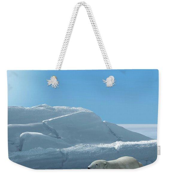 Ice Bear Hunting Polar Arctic Region Weekender Tote Bag