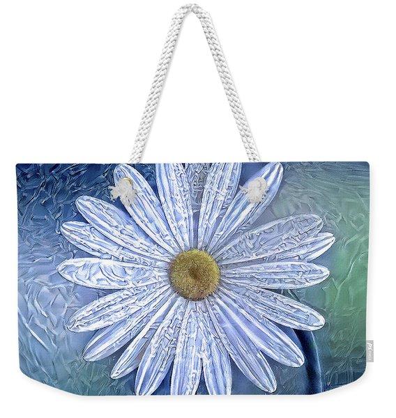 Ice Daisy Flower Weekender Tote Bag