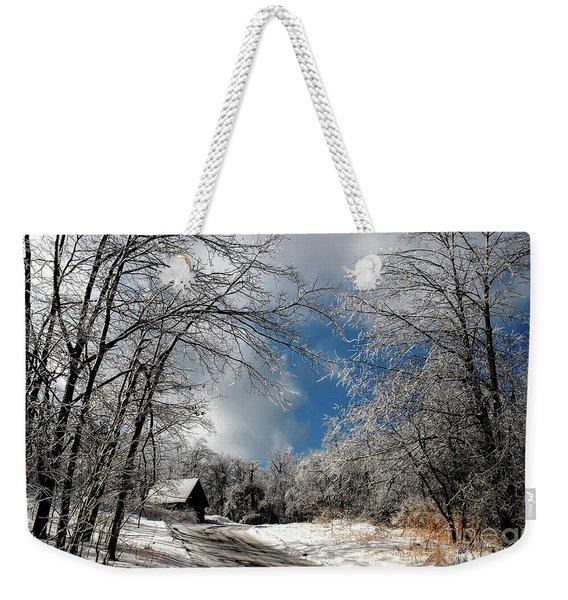 Ice Storm Aftermath Weekender Tote Bag