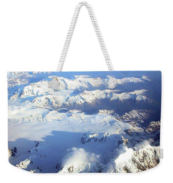 Icebound Mountains Weekender Tote Bag