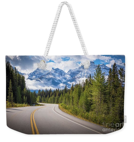 Icefields Parkway Curve Weekender Tote Bag