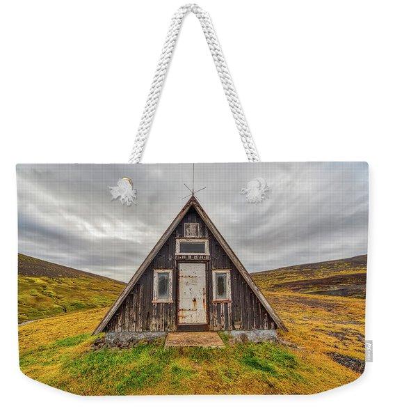 Iceland Chalet Weekender Tote Bag