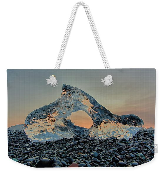 Iceland Diamond Beach Abstract  Ice Weekender Tote Bag