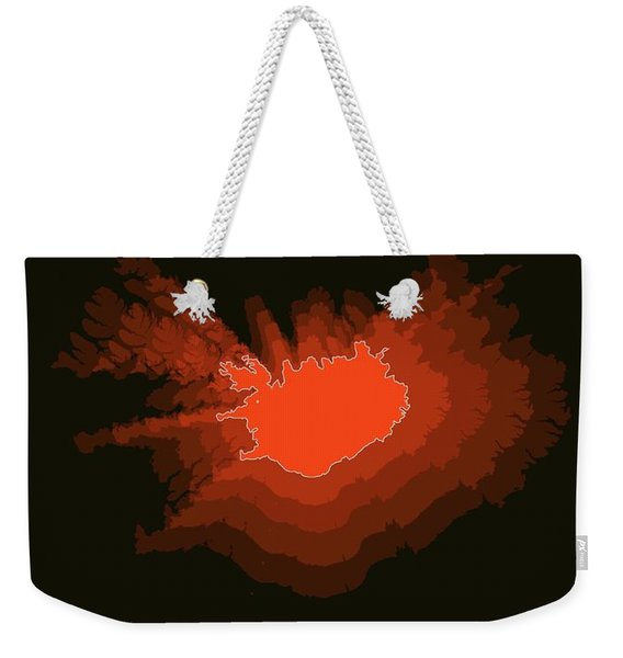 Iceland Radiant Map I Weekender Tote Bag