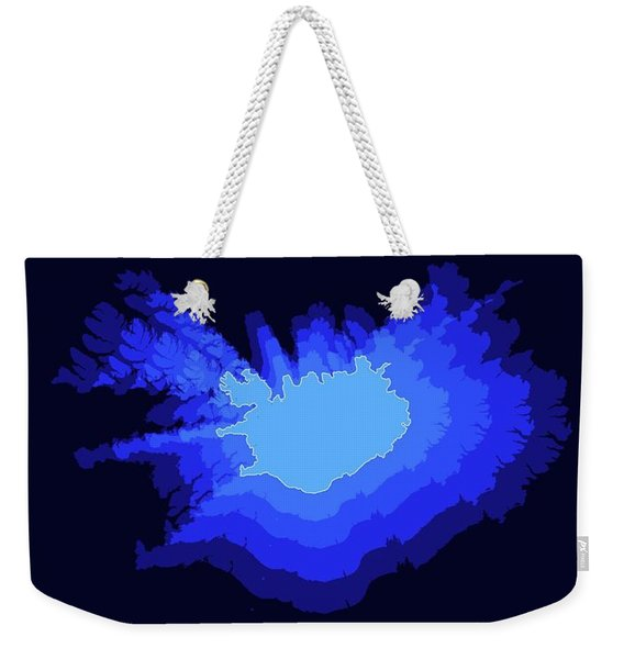 Iceland Radiant Map IIi Weekender Tote Bag