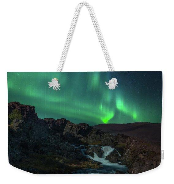 Icelandic Flows Weekender Tote Bag