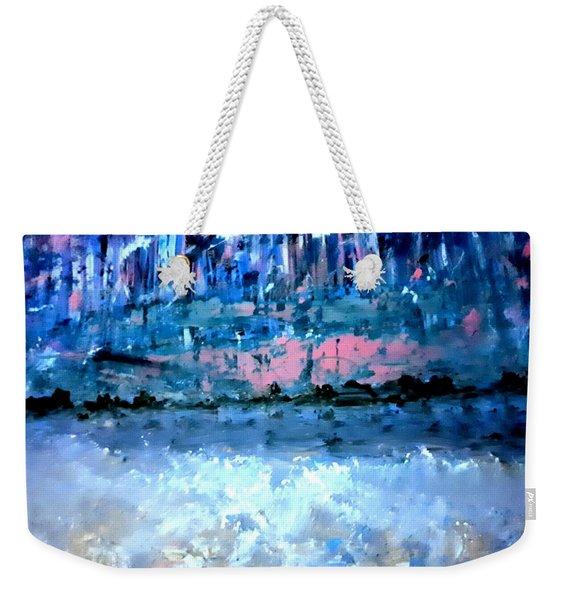 Icy Lake Weekender Tote Bag