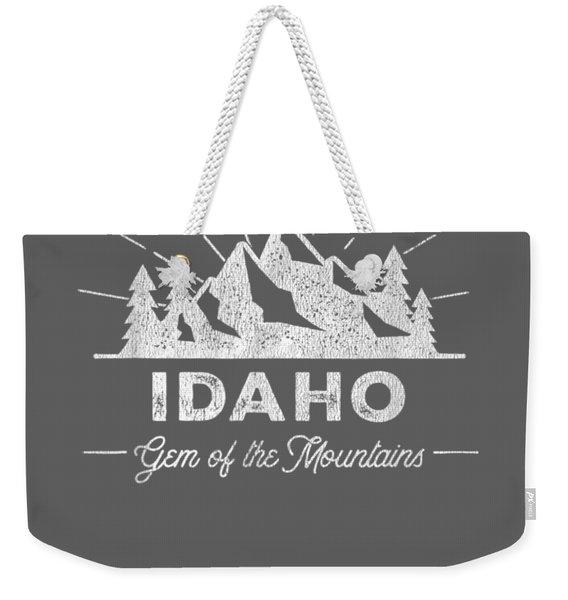Idaho T Shirt Vintage Hiking Retro Tee Design Weekender Tote Bag