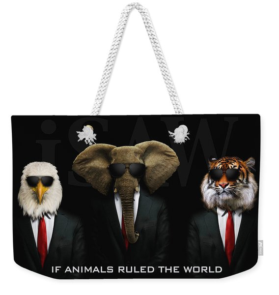 Weekender Tote Bag featuring the digital art If Animals Ruled The World by ISAW Company
