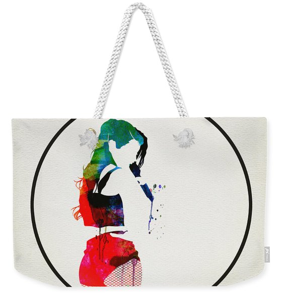 Iggy Azalea Watercolor Weekender Tote Bag