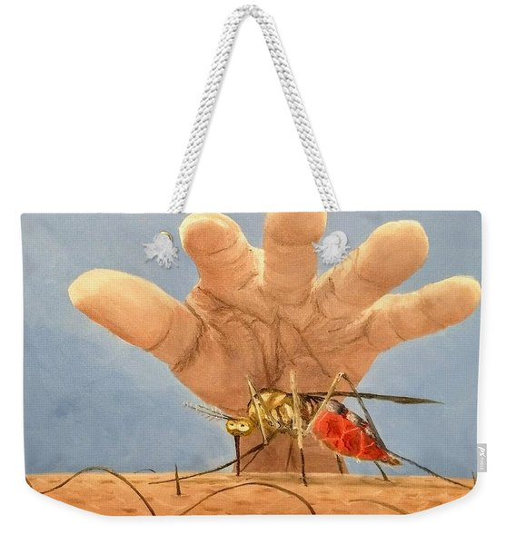 Weekender Tote Bag featuring the painting Ignorance Is Bliss by Kevin Daly