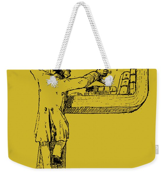 Illuminated Letter P Weekender Tote Bag