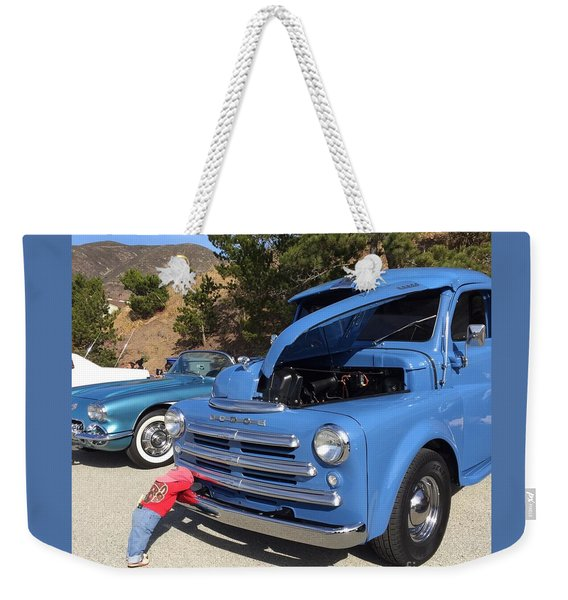 Weekender Tote Bag featuring the photograph I'm Tired by Cynthia Marcopulos