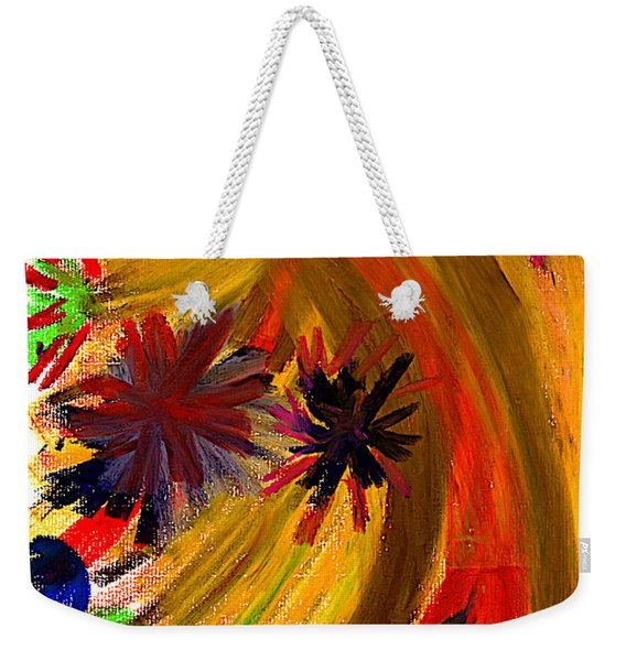 Weekender Tote Bag featuring the pastel Improvisation #74 by Bee-Bee Deigner
