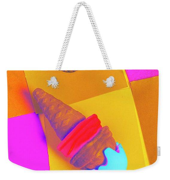 In Bubblegum Tones Weekender Tote Bag