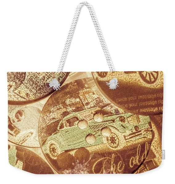 In Fashion Of Classic Cars Weekender Tote Bag